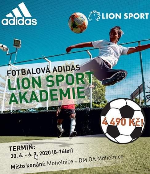 FOTBALOVÁ ADIDAS LION SPORT AKADEMIE v Mohelnici